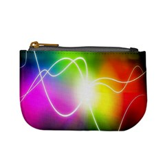 Lines Wavy Ight Color Rainbow Colorful Mini Coin Purses by Alisyart