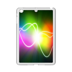 Lines Wavy Ight Color Rainbow Colorful Ipad Mini 2 Enamel Coated Cases