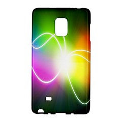 Lines Wavy Ight Color Rainbow Colorful Galaxy Note Edge by Alisyart