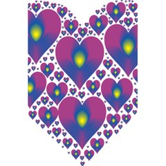 Heart Love Valentine Purple Gold 5 5  X 8 5  Notebooks