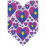 Heart Love Valentine Purple Gold 5.5  x 8.5  Notebooks Front Cover