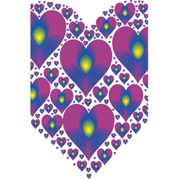 Heart Love Valentine Purple Gold 5.5  x 8.5  Notebooks