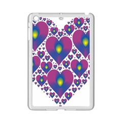 Heart Love Valentine Purple Gold Ipad Mini 2 Enamel Coated Cases