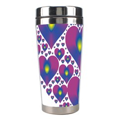 Heart Love Valentine Purple Gold Stainless Steel Travel Tumblers