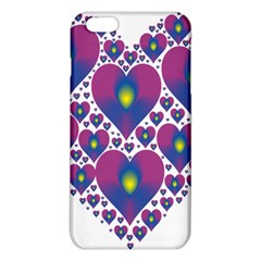 Heart Love Valentine Purple Gold Iphone 6 Plus/6s Plus Tpu Case