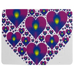 Heart Love Valentine Purple Gold Jigsaw Puzzle Photo Stand (rectangular)