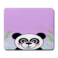Panda Happy Birthday Pink Face Smile Animals Flower Purple Green Large Mousepads