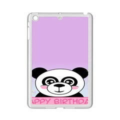 Panda Happy Birthday Pink Face Smile Animals Flower Purple Green Ipad Mini 2 Enamel Coated Cases
