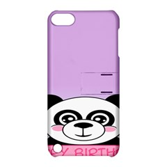 Panda Happy Birthday Pink Face Smile Animals Flower Purple Green Apple Ipod Touch 5 Hardshell Case With Stand by Alisyart