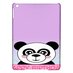 Panda Happy Birthday Pink Face Smile Animals Flower Purple Green Ipad Air Hardshell Cases