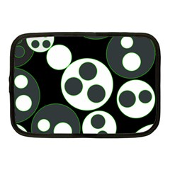 Origami Leaf Sea Dragon Circle Line Green Grey Black Netbook Case (medium)