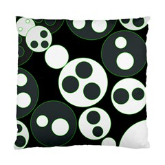 Origami Leaf Sea Dragon Circle Line Green Grey Black Standard Cushion Case (two Sides)