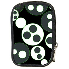 Origami Leaf Sea Dragon Circle Line Green Grey Black Compact Camera Cases