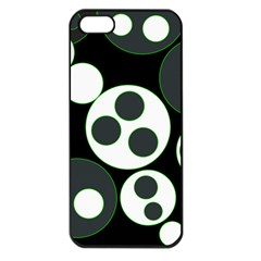 Origami Leaf Sea Dragon Circle Line Green Grey Black Apple Iphone 5 Seamless Case (black)