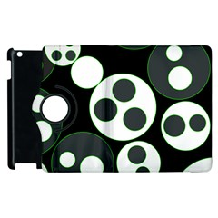 Origami Leaf Sea Dragon Circle Line Green Grey Black Apple Ipad 2 Flip 360 Case by Alisyart