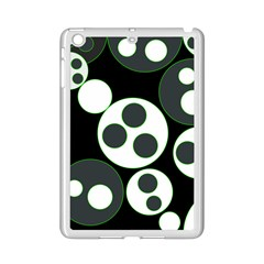Origami Leaf Sea Dragon Circle Line Green Grey Black Ipad Mini 2 Enamel Coated Cases