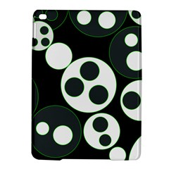 Origami Leaf Sea Dragon Circle Line Green Grey Black Ipad Air 2 Hardshell Cases by Alisyart