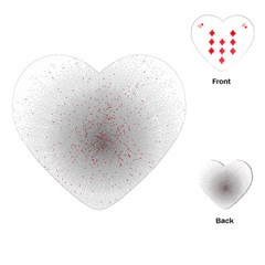Physical Chemistry Circle Red Grey Playing Cards (heart)