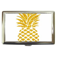 Pineapple Glitter Gold Yellow Fruit Cigarette Money Cases by Alisyart
