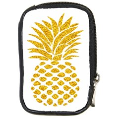 Pineapple Glitter Gold Yellow Fruit Compact Camera Cases