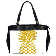 Pineapple Glitter Gold Yellow Fruit Office Handbags (2 Sides)  by Alisyart
