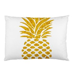 Pineapple Glitter Gold Yellow Fruit Pillow Case (two Sides)