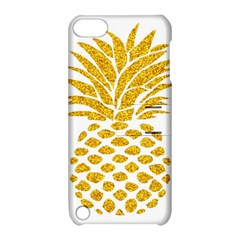 Pineapple Glitter Gold Yellow Fruit Apple Ipod Touch 5 Hardshell Case With Stand