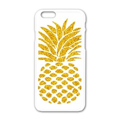 Pineapple Glitter Gold Yellow Fruit Apple Iphone 6/6s White Enamel Case by Alisyart