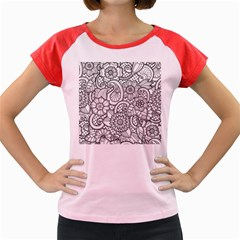 These Flowers Need Colour! Women s Cap Sleeve T Shirt by Simbadda