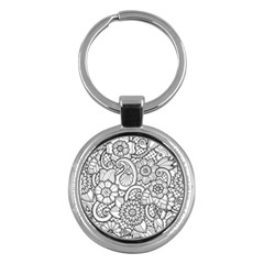 These Flowers Need Colour! Key Chains (round)  by Simbadda