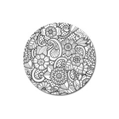 These Flowers Need Colour! Magnet 3  (round) by Simbadda