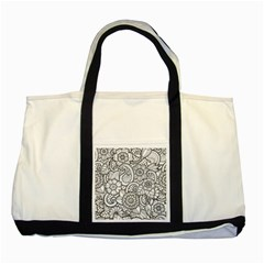 These Flowers Need Colour! Two Tone Tote Bag by Simbadda