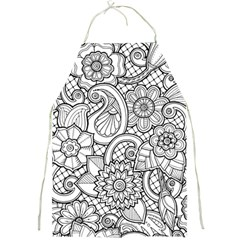 These Flowers Need Colour! Full Print Aprons by Simbadda