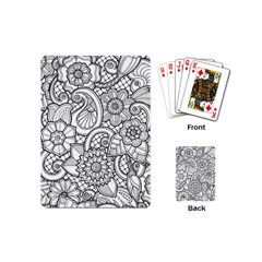 These Flowers Need Colour! Playing Cards (mini)  by Simbadda