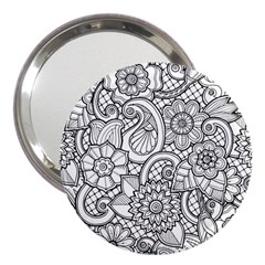 These Flowers Need Colour! 3  Handbag Mirrors