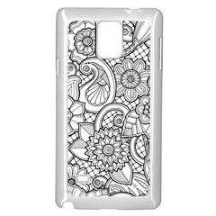 These Flowers Need Colour! Samsung Galaxy Note 4 Case (white) by Simbadda