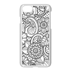 These Flowers Need Colour! Apple Iphone 7 Seamless Case (white) by Simbadda