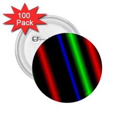 Multi Color Neon Background 2 25  Buttons (100 Pack)