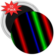 Multi Color Neon Background 3  Magnets (10 Pack)