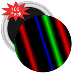 Multi Color Neon Background 3  Magnets (100 Pack)