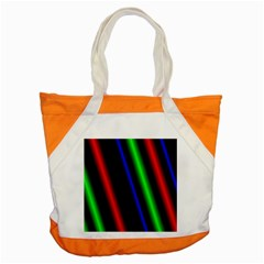 Multi Color Neon Background Accent Tote Bag by Simbadda
