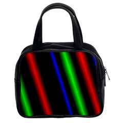 Multi Color Neon Background Classic Handbags (2 Sides) by Simbadda