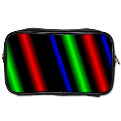 Multi Color Neon Background Toiletries Bags 2 Side by Simbadda