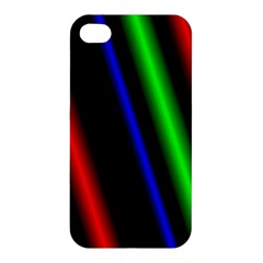 Multi Color Neon Background Apple Iphone 4/4s Hardshell Case