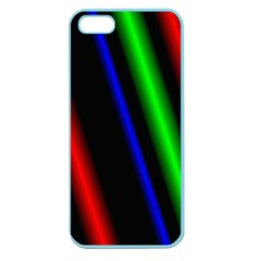 Multi Color Neon Background Apple Seamless Iphone 5 Case (color)