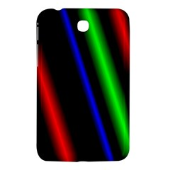 Multi Color Neon Background Samsung Galaxy Tab 3 (7 ) P3200 Hardshell Case  by Simbadda