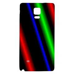 Multi Color Neon Background Galaxy Note 4 Back Case