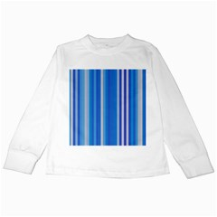 Color Stripes Blue White Pattern Kids Long Sleeve T Shirts