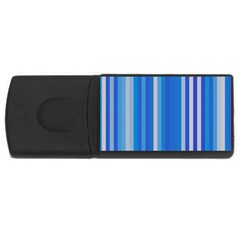 Color Stripes Blue White Pattern Usb Flash Drive Rectangular (4 Gb) by Simbadda