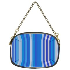 Color Stripes Blue White Pattern Chain Purses (one Side)  by Simbadda